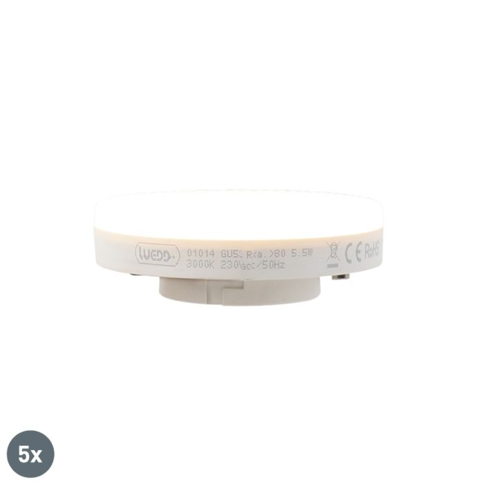 Set-de-5-lămpi-LED-GX53-5,5W-470-lumen-3000K