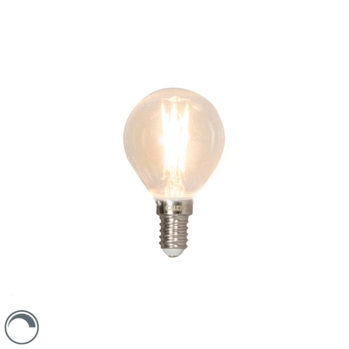 Lampă-cu-bilă-cu-filament-cu-LED-reglabilă-E14-3W-350lm-2700K