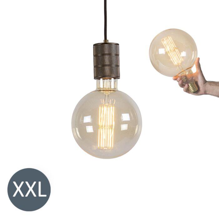 Lampă-suspendată-din-bronz-Megaglobe-cu-lampă-LED-reglabilă