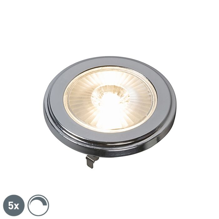 Set-de-5-lămpi-LED-AR111-reglabile-G53-10W-800LM-3000K