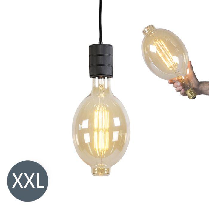 Lampă-suspendată-Colosseum-negru-cu-lampă-LED-reglabilă