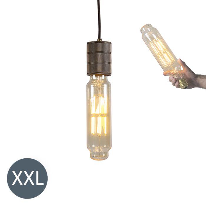 Lampă-suspendată-Tower-bronz-cu-lampă-LED-reglabilă