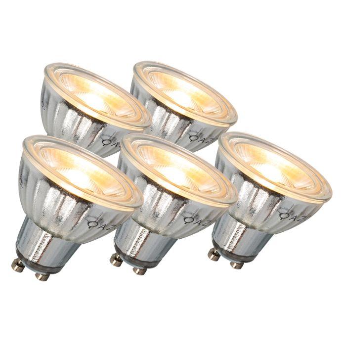 Lampă-LED-GU10-7W-500LM-3000K-set-reglabil-de-5