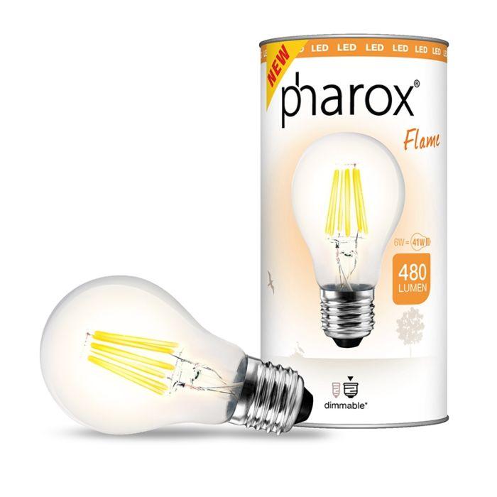 Lampă-LED-Pharox-Flame-E27-6W-480-lumeni