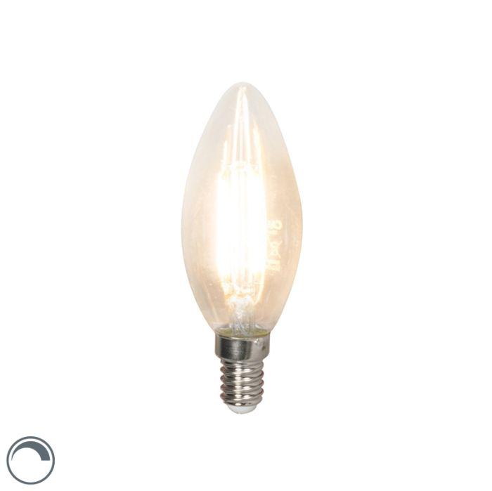 Lampă-cu-lumânare-cu-filament-LED-E14-240V-3.5W-350lm-B35-reglabilă