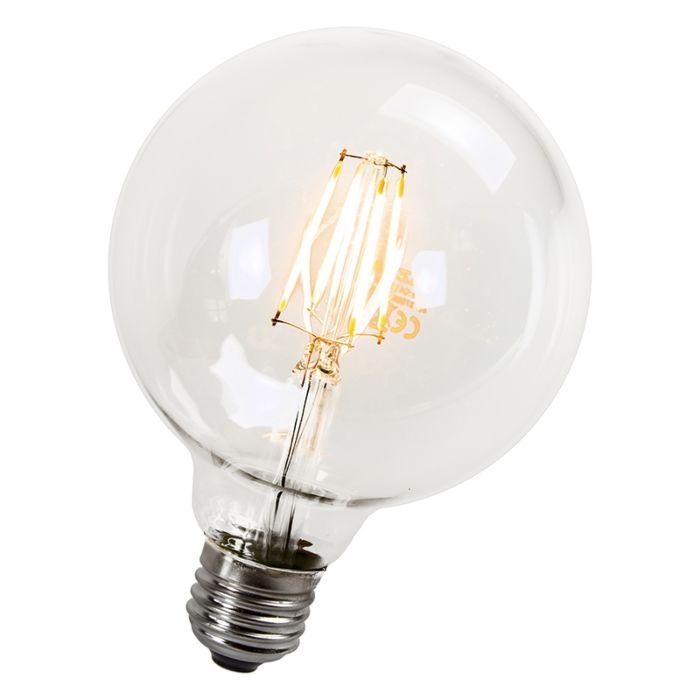 Lampă-cu-glob-cu-filament-LED-95mm-E27-4W-470-lumeni
