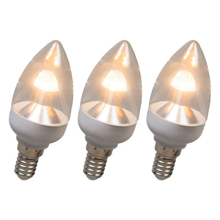 Lampă-cu-lumânări-LED-E14-4W-250-lumen-alb-cald-Set-reglabil-de-3