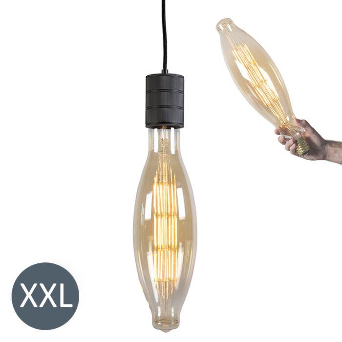 Lampă-suspendată-Elips-negru-cu-lampă-cu-LED-reglabilă