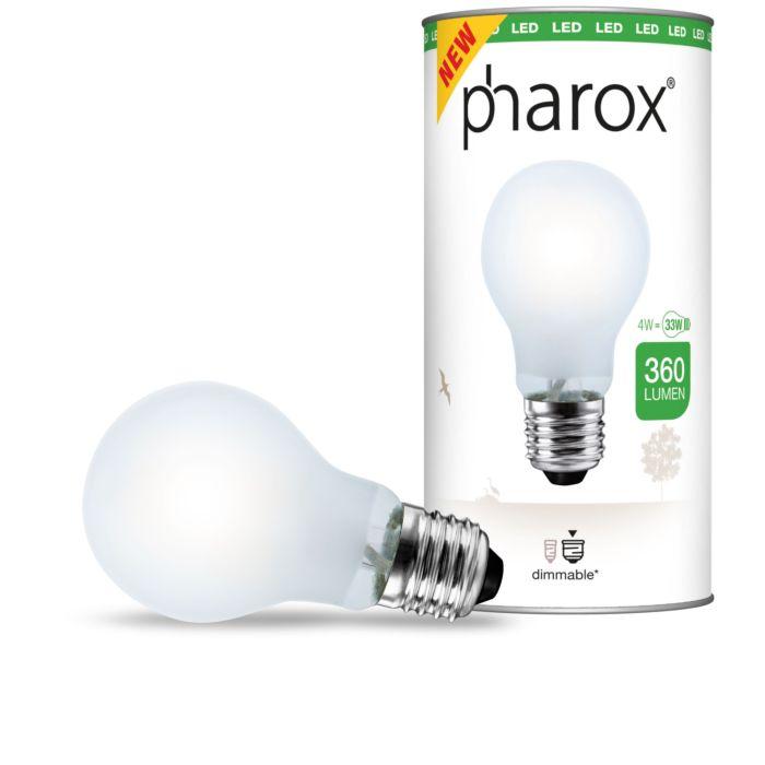 Lampă-LED-Pharox-mată-E27-4W-360-lumeni