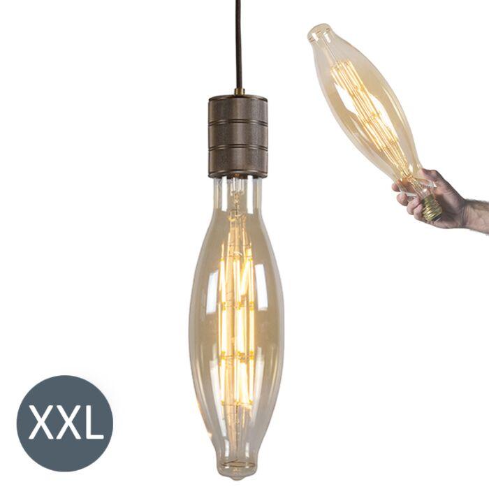 Lampă-suspendată-Elips-bronz-cu-lampă-LED-reglabilă
