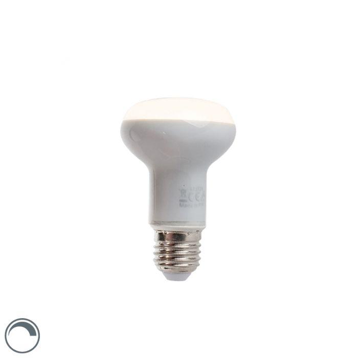 Lampă-reflector-cu-LED-reglabilă-E27-5W-370-lumeni-alb-cald-2900K-R63