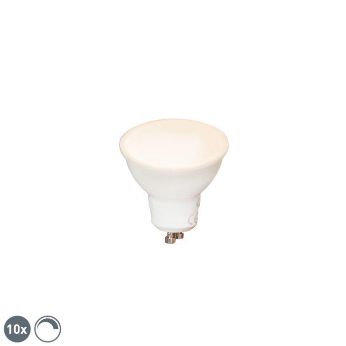 Set-de-10-lămpi-LED-reglabile-GU10-6W-450-lm-2700K