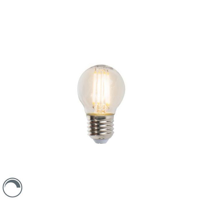 Lampă-cu-bilă-cu-filament-LED-E27-5W-470lm-P45-reglabilă