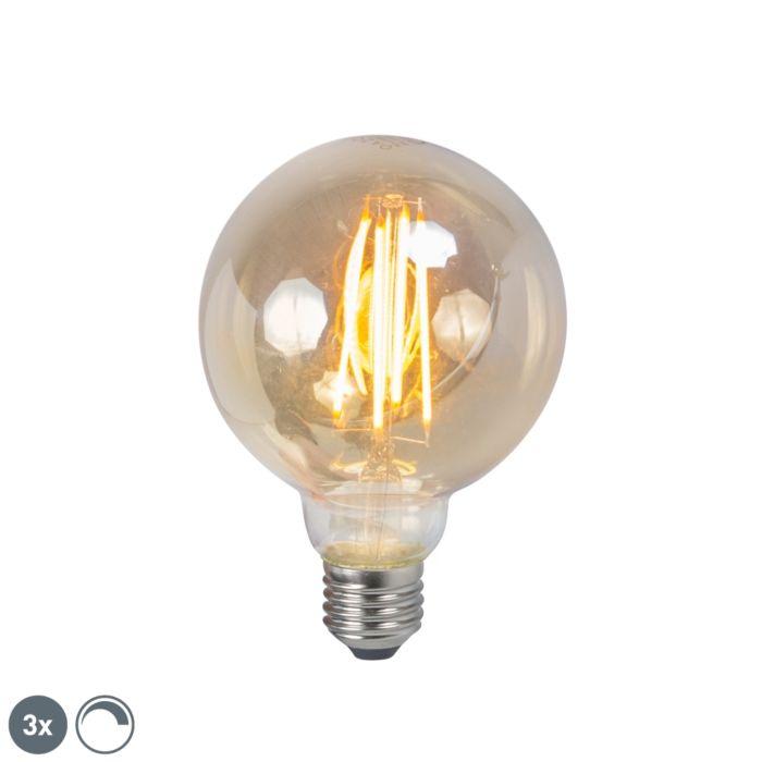 Set-de-3-lămpi-cu-incandescență-LED-E27-5W-2200K-G95-reglabile-în-fum