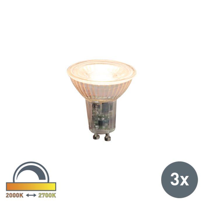 Set-de-3-lămpi-LED-reglabile-GU10-5.5W-360lm-2000K---2700K