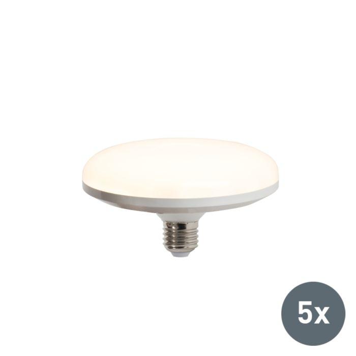 Set-de-5-lămpi-cu-LED-UFO-E27-18W-alb-cald