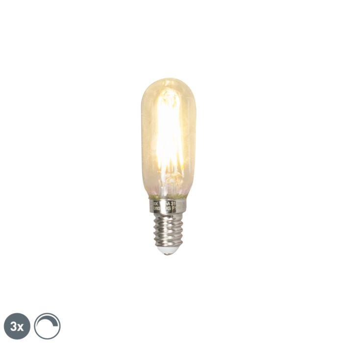 Set-de-3-lămpi-cu-filament-cu-LED-E25-regulabile-T25L-cu-filament-3W-310-lumeni-2700K