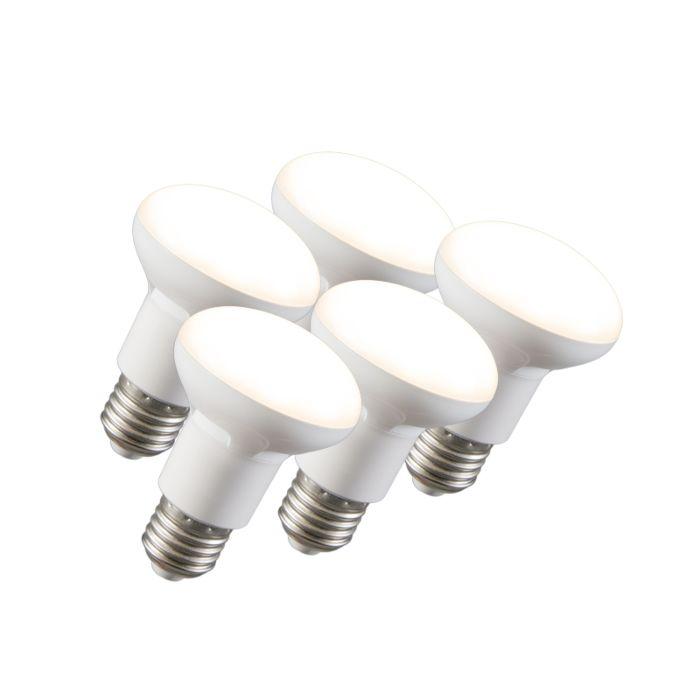 Set-de-5-lampi-reflector-cu-LED-R63-E27-240V-8W-2700K-reglabile