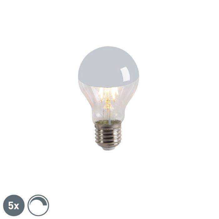 Set-de-5-oglinzi-cu-lampă-cu-incandescență-LED-E27-240V-4W-300lm-A60-reglabil