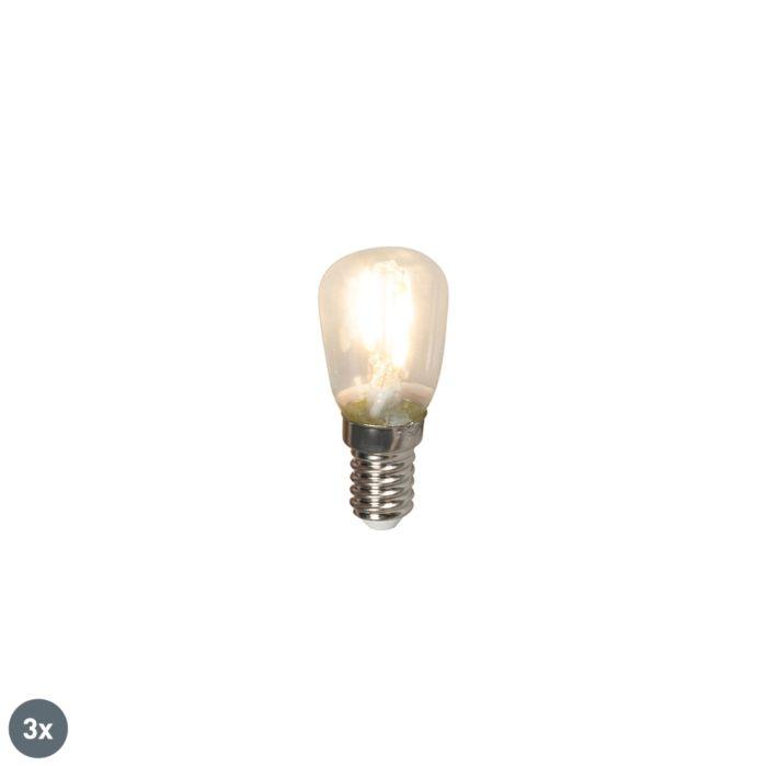 Set-de-3-lămpi-cu-tablă-cu-filament-LED-E14-T26-1W-100lm-2700-K.