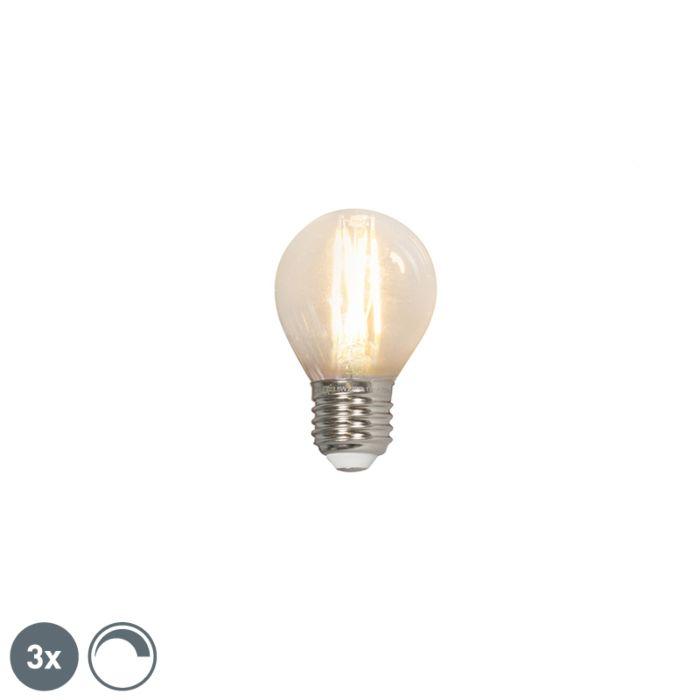 Set-de-3-lămpi-cu-bilă-cu-filament-LED-E27-240V-3.5W-350lm-P45-reglabil