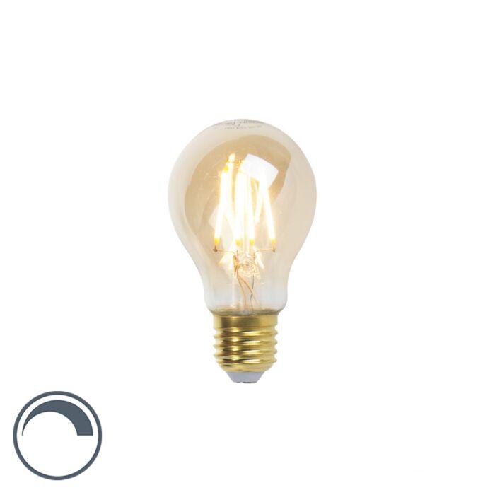 Lampă-cu-filament-LED-Goldline-E27-5W-360lm-A60-reglabilă