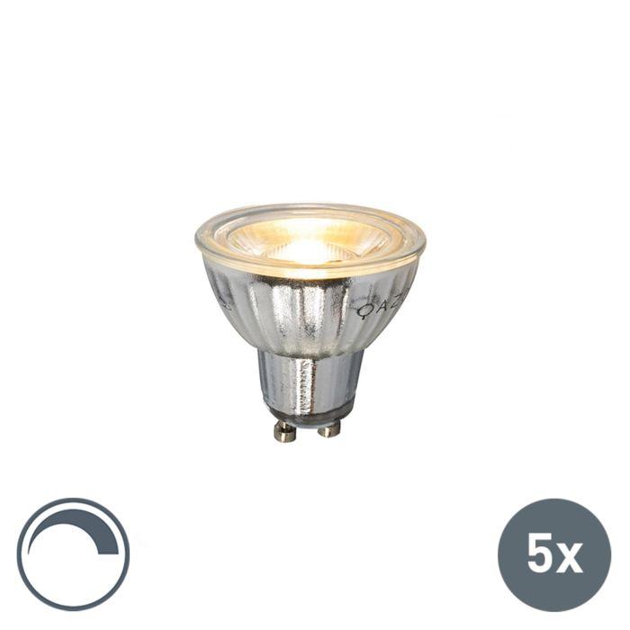 Set-de-5-lămpi-LED-GU10-230V-5W-380LM-2700K-reglabile