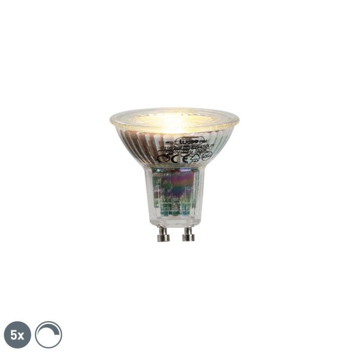 Set-de-5-lămpi-LED-GU10-6W-450lumen-2700K-reglabile