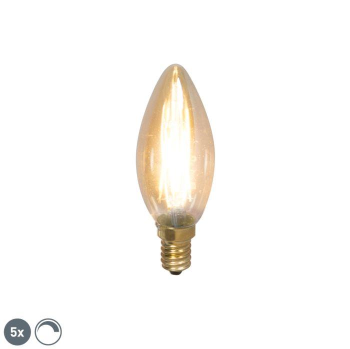 Set-de-5-lămpi-de-lumânare-cu-filament-cu-LED-E14-200lm-2100-K.