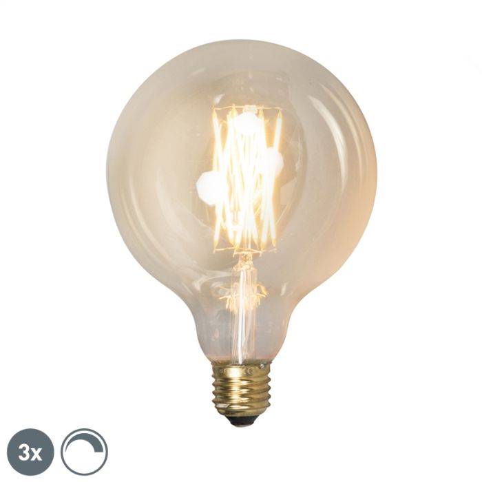 Set-de-3-lămpi-cu-LED-E27-reglabile-G125-goldline-320lm-2100-K.
