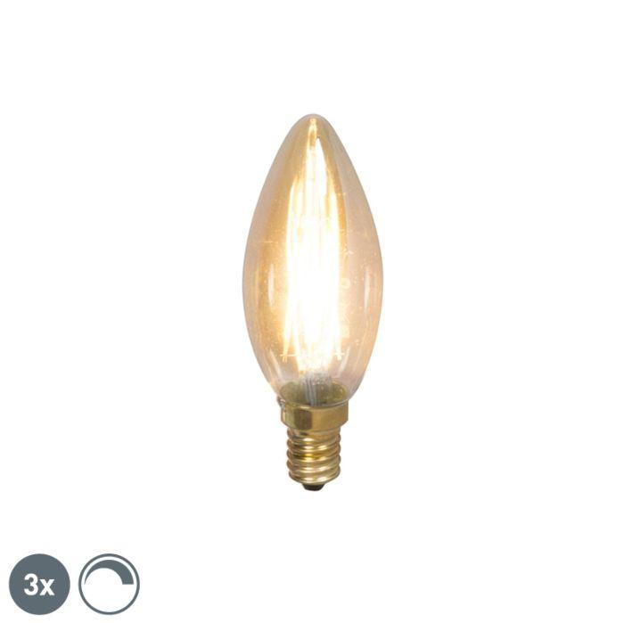 Set-de-3-lămpi-de-lumânare-cu-filament-cu-LED-E14-200lm-2100-K.