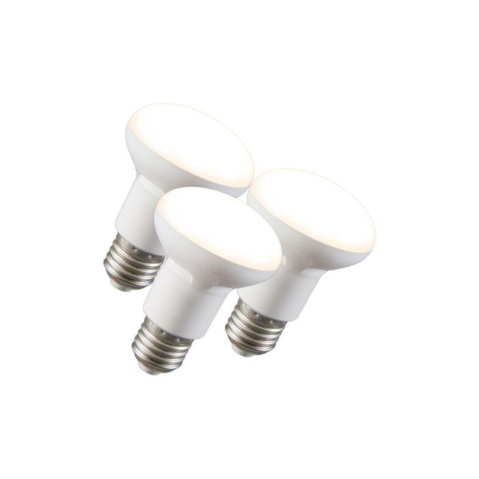 Set-de-3-lămpi-reflectorizante-LED-R63-E27-240V-8W-2700K-reglabile