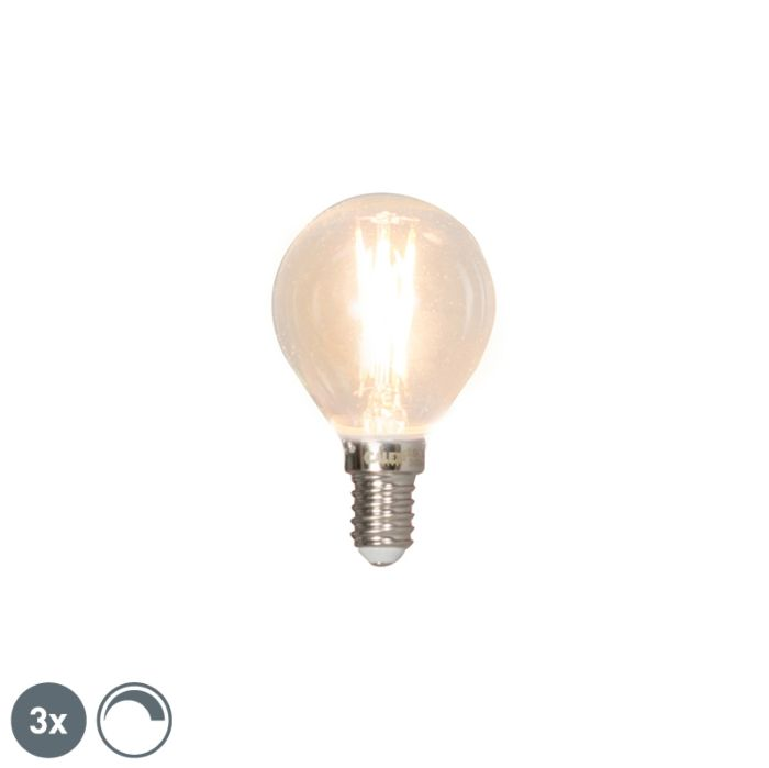 Set-de-3-lămpi-cu-bilă-cu-filament-cu-LED-E14-reglabile-3W-350lm-2700K