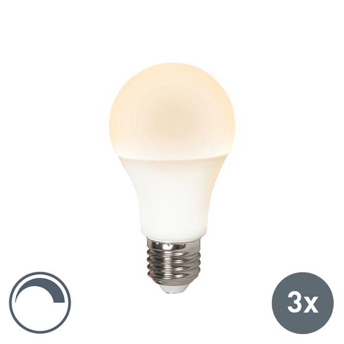 Set-de-3-lămpi-cu-LED-E27-240V-10W-810lm-A60-reglabil