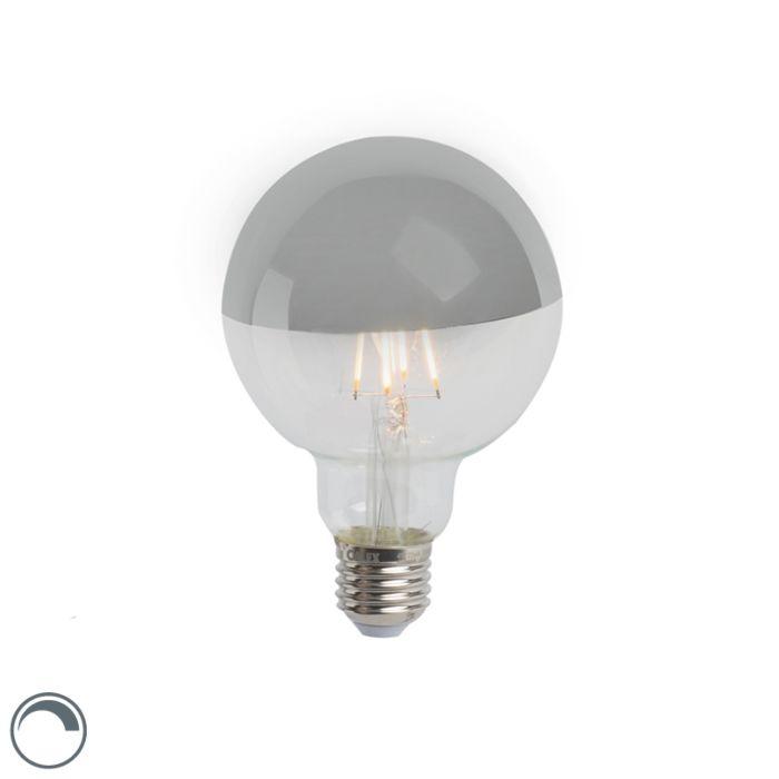 Oglindă-cu-lampă-cu-incandescență-LED-argintie-E27-240V-4W-280lm-2300K-G95-reglabilă