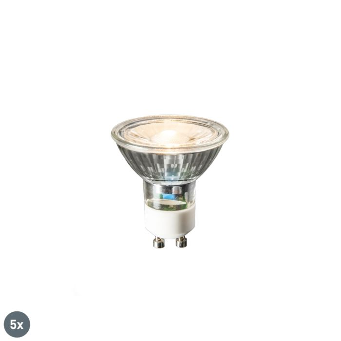 Set-5-lămpi-LED-GU10-COB-3W-230lm-2700K