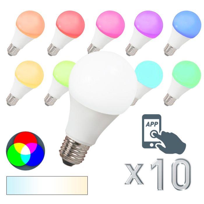 Set-de-10-becuri-LED-E27-240V-7W-500lm-A60-Smart-Light