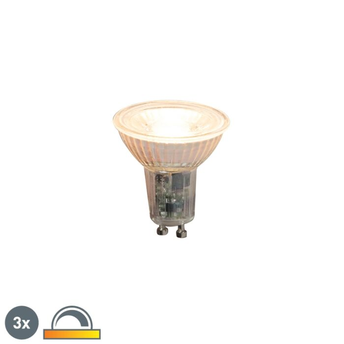 Set-de-3-lămpi-LED-reglabile-GU10-5.5W-360lm-2000K---2700K