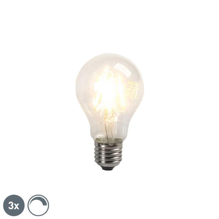Set-de-3-becuri-cu-filament-LED-E27-4W-390lm-reglabil