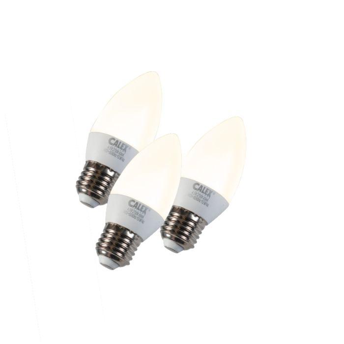 Set-de-3-lămpi-pentru-lumânări-LED-E27-5W-240V-2700K-reglabile