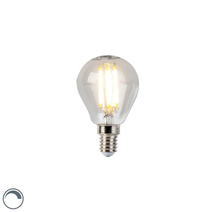 Lampă-cu-bilă-cu-filament-LED-E14-5W-470lm-P45-reglabilă