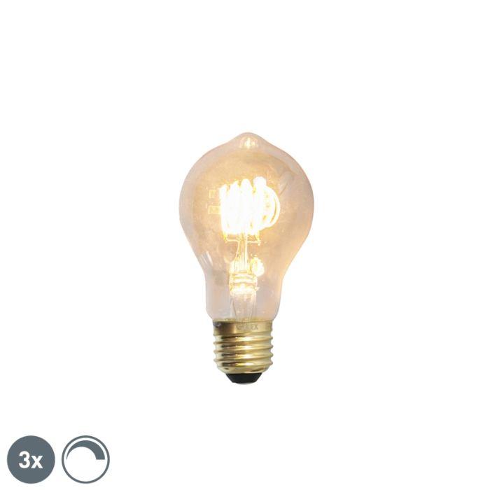 Set-de-3-lămpi-cu-filament-cu-LED-E27-reglabile-4W-200lm-2100-K.