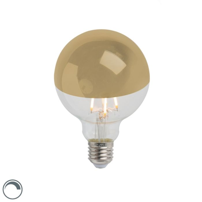 Oglindă-cu-lampă-cu-incandescență-LED-aurie-E27-240V-4W-280lm-2300K-G95-reglabilă