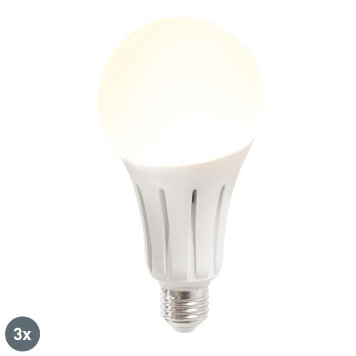 Set-de-3-lămpi-cu-LED-B60-18W-E27-alb-cald