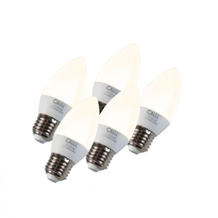 Set-de-5-lămpi-cu-lumânări-LED-E27-5W-240V-2700K-reglabile