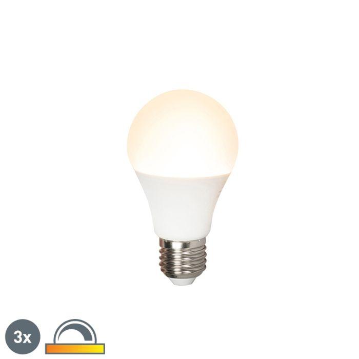 Set-de-3-lămpi-cu-LED-E27-240V-7W-510lm-A60-reglabil
