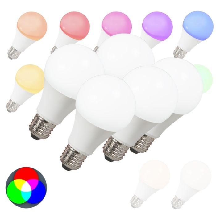 Set-de-5-becuri-LED-E27-240V-7W-500lm-A60-Smart-Light