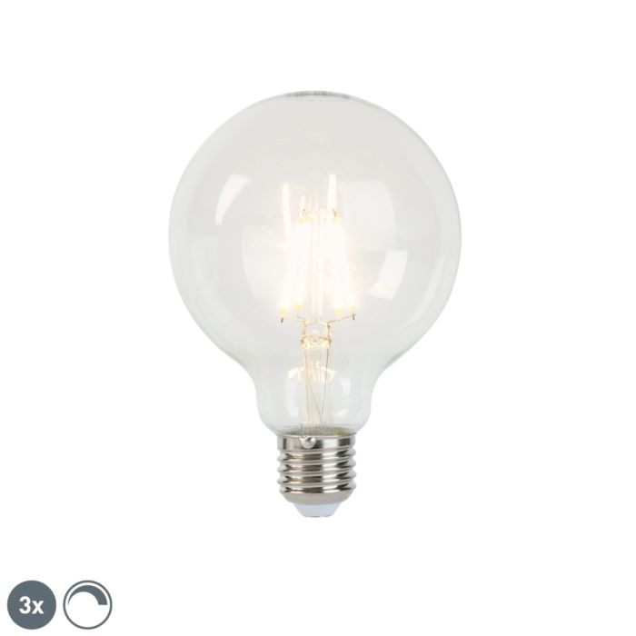 Set-de-3-lămpi-cu-filament-cu-LED-E27-reglabile-G95-5W-470-lm-2700K