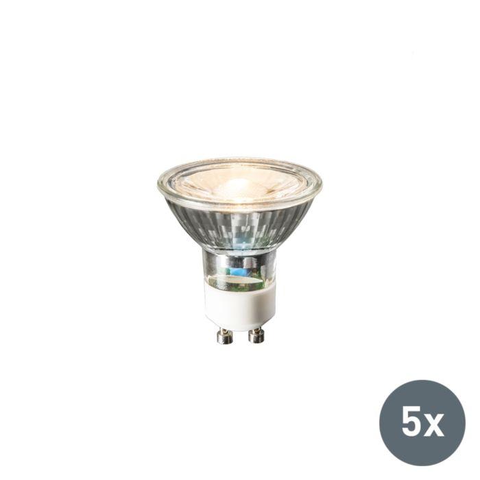 Set-de-5-lămpi-LED-GU10-240V-3W-230lm-alb-cald