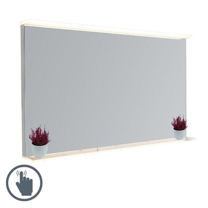 Oglindă-modernă-pentru-baie-60x100-cm-incl.-LED-cu-dimmer-tactil-și-raft---Miral